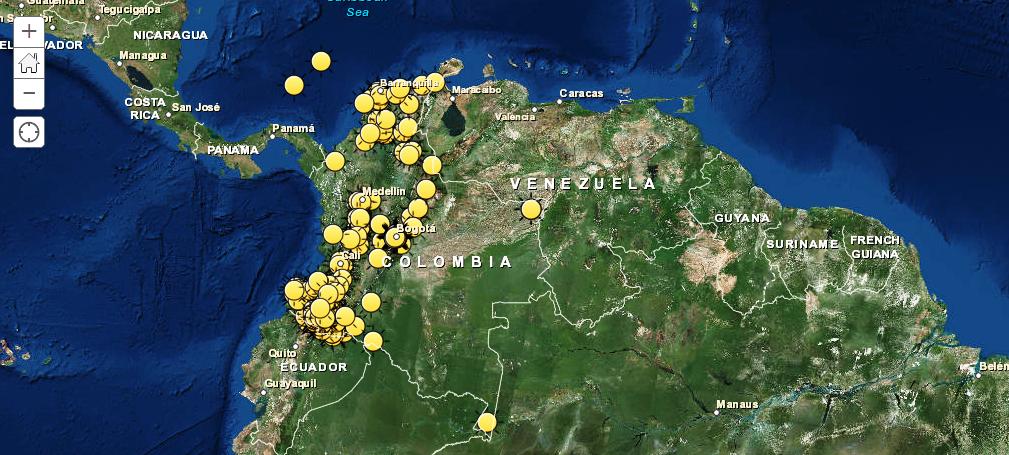 Mapa festivo de Colombia